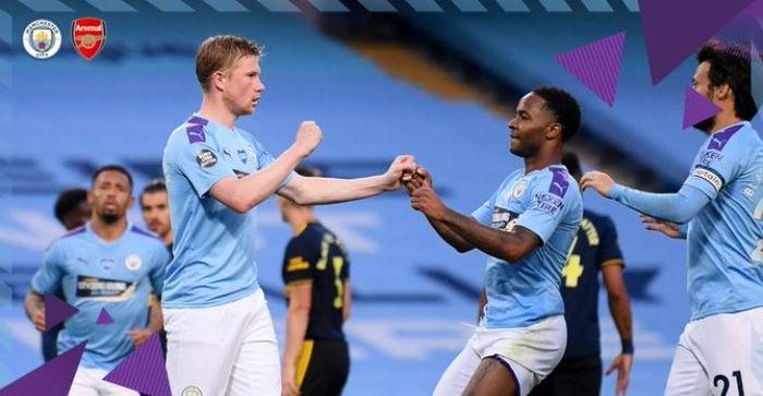 TWITTER.COM/MANCITY Duel Manchester City versus Arsenal di Etihad Stadium, Rabu (17/6/2020).