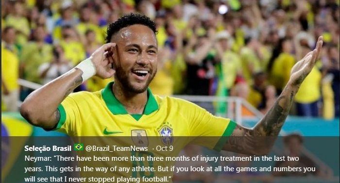 Striker timnas Brasil, Neymar.