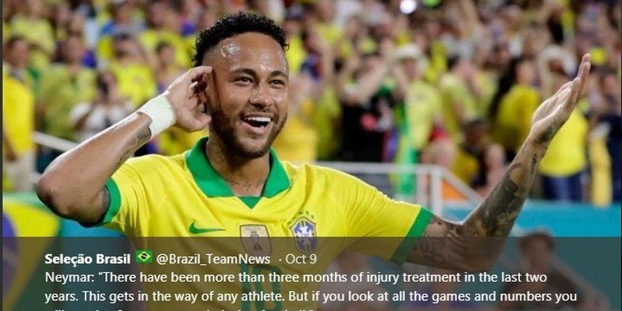 Hasil Uji Coba - Neymar Cuma Main 12 Menit, Brasil Gagal Menang Lagi