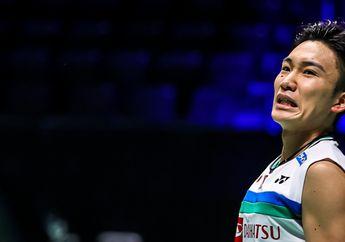 Hasil Olimpiade Tokyo 2020 - Kento Momota Bikin Tuan Rumah Menangis, Indonesia Bahagia