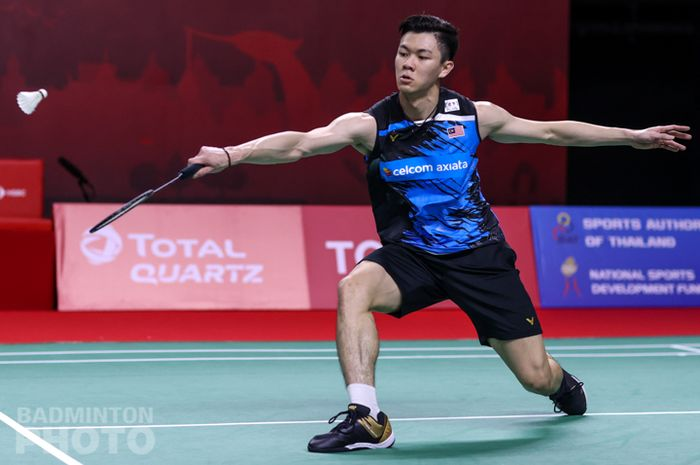 Tunggal putra Malaysia, Lee Zii Jia saat tampil pada babak pertama Thailand Open II 2021, Selasa (19/1/2021)