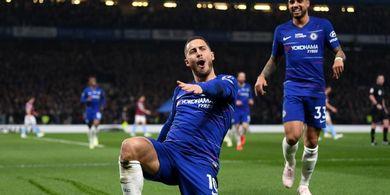 Susunan Pemain Chelsea Vs Burnley - Hazard Menuju Rekor Gol Liga Inggris