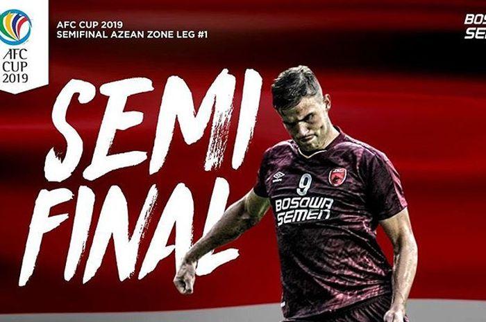 Live streaming PSM Makassar Vs Becamex Binh Duong pada leg pertama semifinal Zona ASEAN Piala AFC 2019.