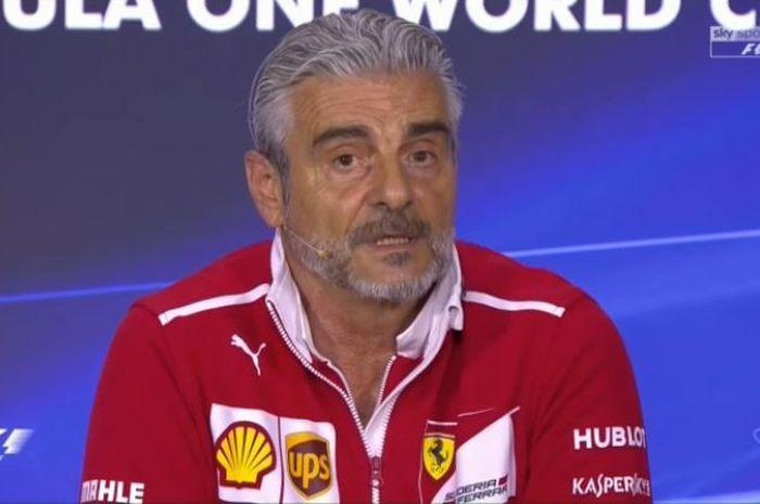 Posisi Maurizio Arrivabene sebagai pimpinan tim F1 Ferrari berada di ujung tanduk