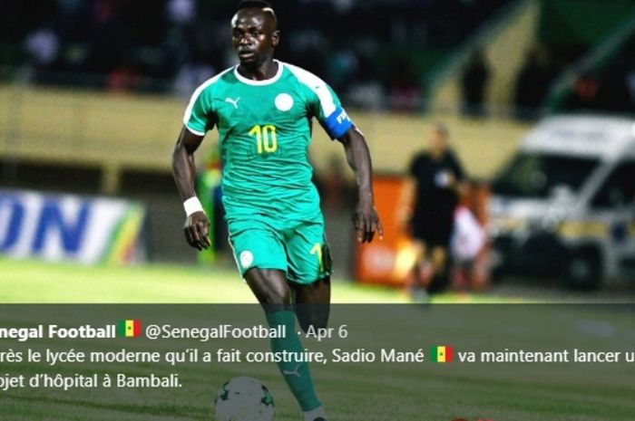 Sadio Mane saat membela timnas Senegal.