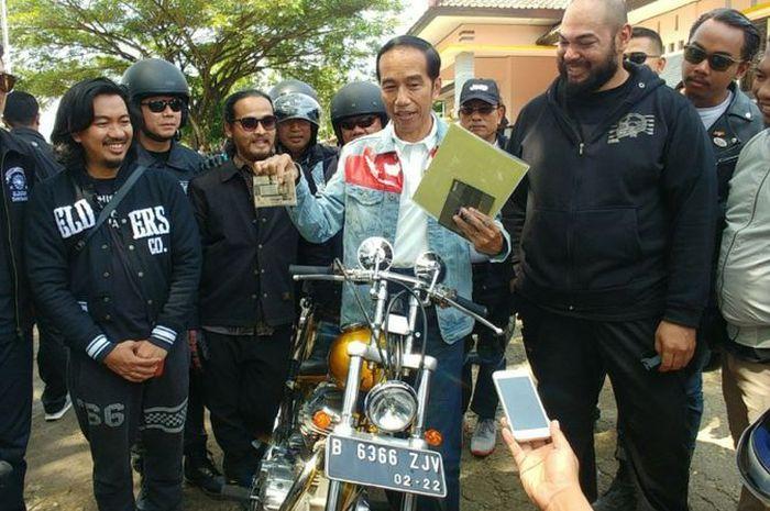 Motor Chopperland Presiden Joko Widodo surat-suratnya lengkap, begitu kelengkapan standarnya