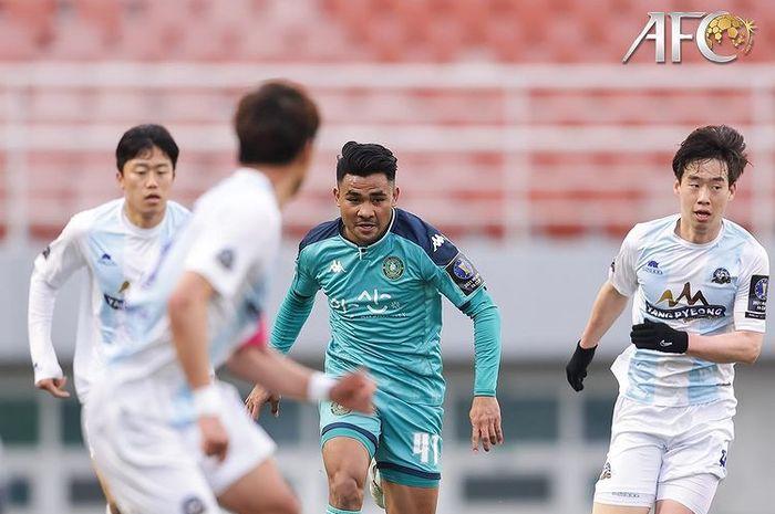Bek timnas Indonesia, Asnawi Mangkualam, menjalani debutnya bersama Ansan Greeners di turnamen Piala FA Korea Selatan, Minggu (28/3/2021).