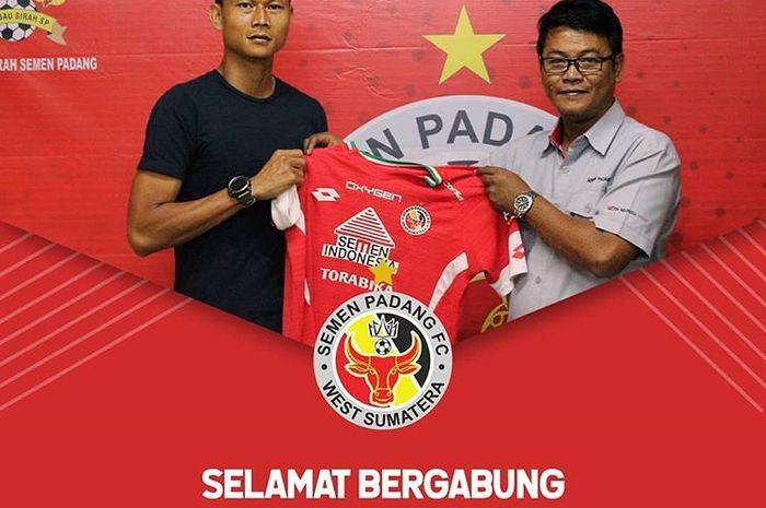 Dedi Gusmawan resmi menjadi pemain Semen Padang pada musim 2019.