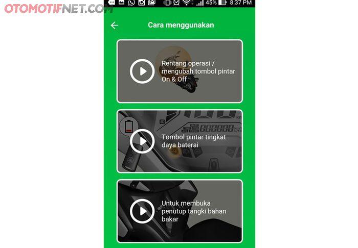 Panduan cara menggunakan fitur-fitur smart key, lengkap dengan video turorial yang informatif