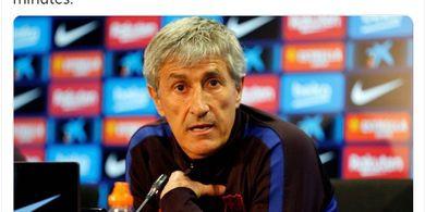 Presiden Barcelona Beri Isyarat soal Nasib Pelatih Quique Setien