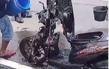 Honda BeAT Hangus Sebagian, Korsleting Muncul Dari Setang ke Bawah