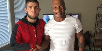 Kondisi Berkebalikan Jagoan UFC Khabib dengan Legenda Tinju Mike Tyson Gemparkan Dunia