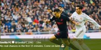 'Dibantu' VAR, Real Madrid Tahan Sevilla Tanpa Gol