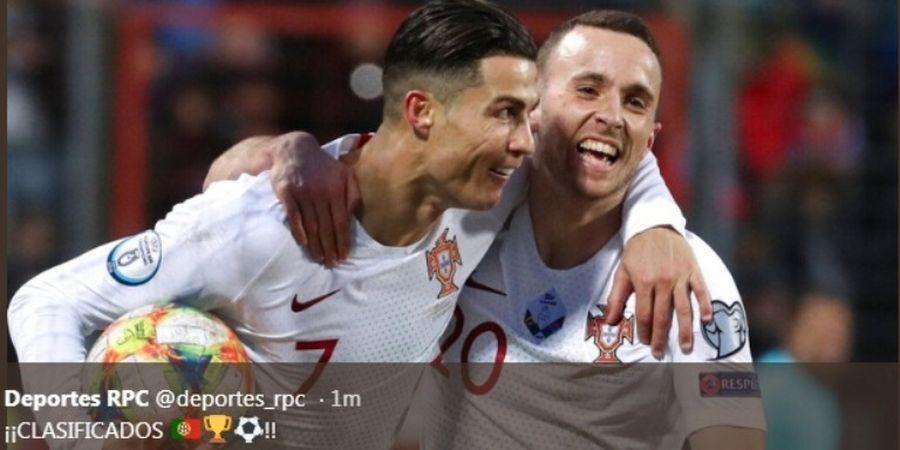 Dunia Ramai-ramai Mengejek Cristiano Ronaldo Si 'Pencuri' Gol
