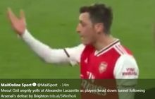 VIDEO - Cetak Assist dan Kalah, Oezil Ngamuk ke Striker Arsenal