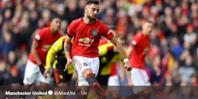 Hasil Liga Inggris - Gol Debut Bruno Fernandes Warnai Pesta Man United