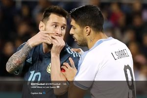 Susunan Pemain Argentina vs Uruguay - Lionel Messi Starter Hadapi Luis Suarez