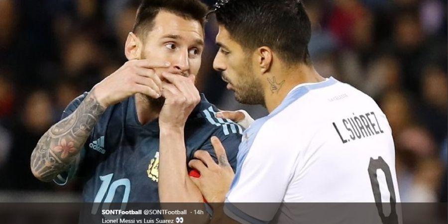 Meme Terkocak Bisik-bisik antara Lionel Messi dan Luis Suarez