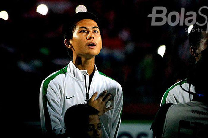 Penyerang timnas U-16 Indonesia, Rendy Juliansyah, menjelang laga kedua Grup A Piala AFF U-16 2018 m