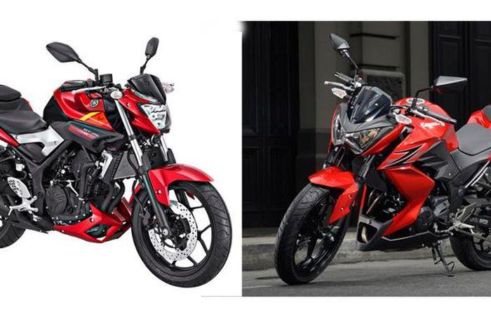 Naked bike Yamaha MT-25 dan Kawasaki Z250