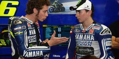 Awal Mula Jorge Lorenzo dan Valentino Rossi Saling Berseteru di Yamaha