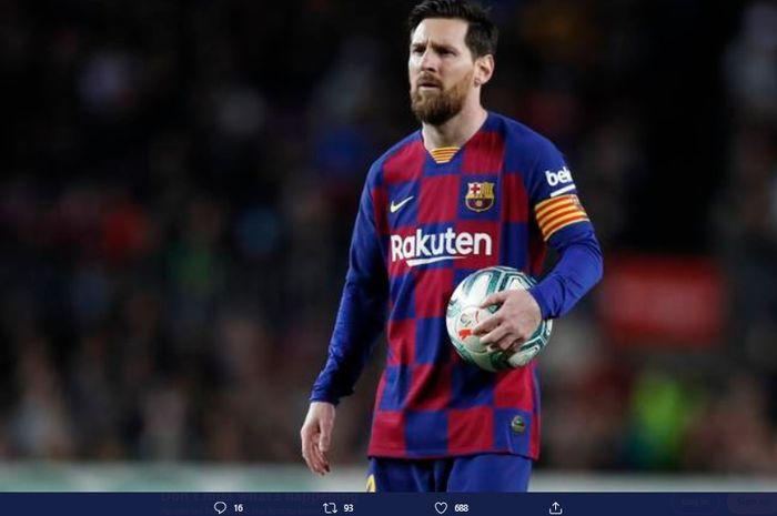 Megabintang Barcelona, Lionel Messi, membantah kabar soal klausul pelepasannya.
