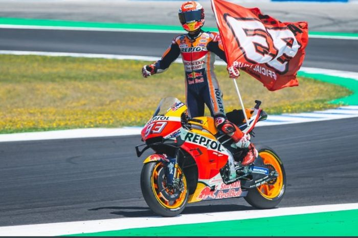 Pembalap Repsol Honda, Marc Marquez, siap terjun pada MotoGP 2020.