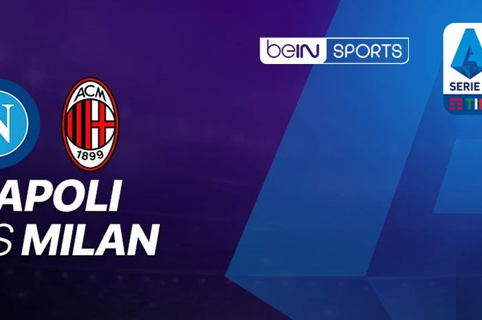 Cover laga Napolis vs AC Milan.
