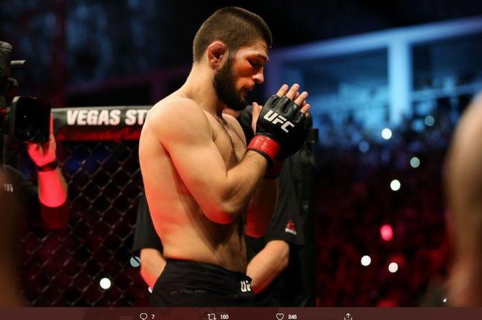 Juara dunia kelas ringan UFC, Khabib Nurmagomedov.