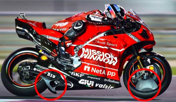 Winglet Ducati yang memicu polemik pasca MotoGP Qatar.