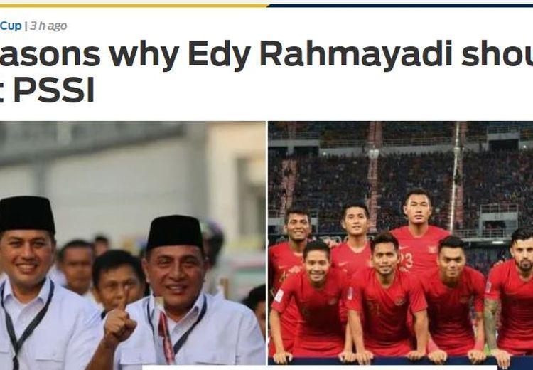 Media Asing Berikan 5 Alasan Edy Rahmayadi Harus Turun dari Ketua Umum PSSI
