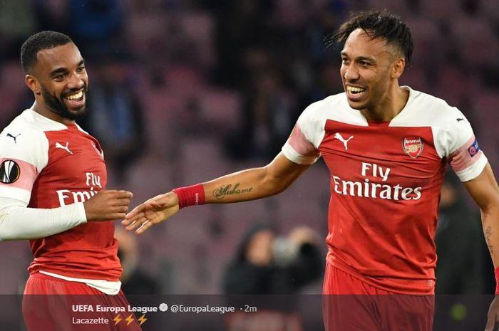 Duo Bomber Arsenal, Alexandre Lacazette dan Pierre-Emerick Aubameyang