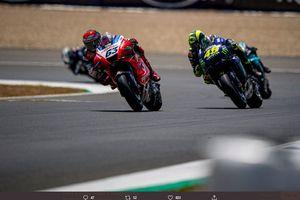 Pembalap Pramac Racing Ini Tak Segan Asapi Valentino Rossi di Lintasan