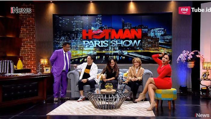 Edison menjadi salah satu bintang tamu di Hotman Paris Show