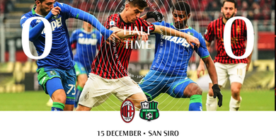 Hasil Babak I - AC Milan Ditahan Imbang Tanpa Gol oleh Sassuolo
