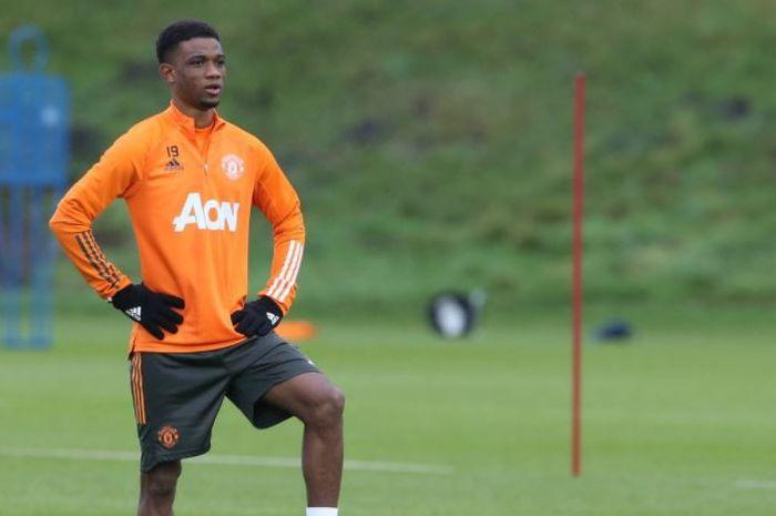 Amad Diallo melakoni latihan perdananya di Manchester United.