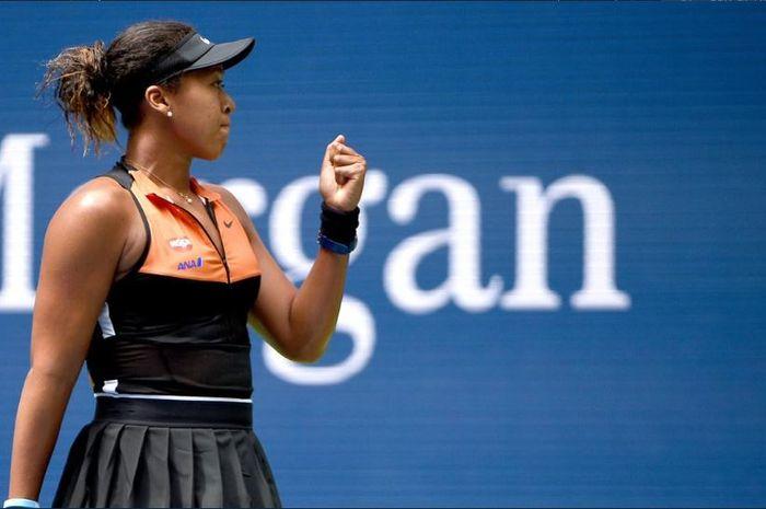 Petenis Jepang, Naomi Osaka, ketika bertanding dalam turnamen US Open 2019 Rabu (28/8/2019)