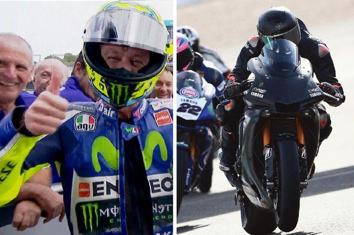 Valentino Rossi berikan komentar soal Lewis Hamilton jajal motor Superbike