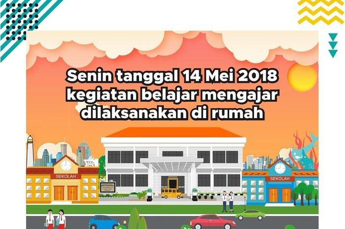 Pengumuman libur sekolah di Surabaya