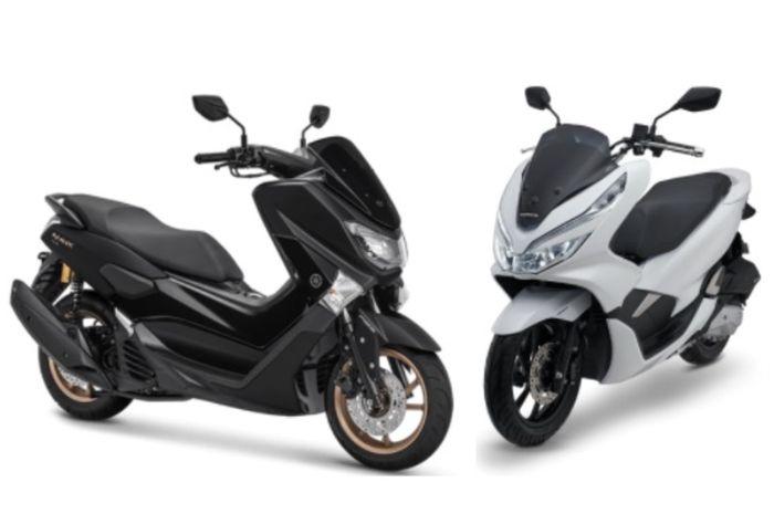 Yamaha NMAX dengan kubikasi 155 cc dan All New Honda PCX 150 mengusung mesin 150 cc