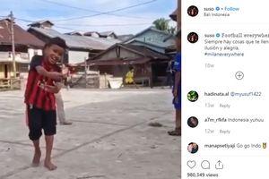 Berikan Umpan Cantik, Bocah Asal Aceh Ini Curi Perhatian Pemain AC Milan