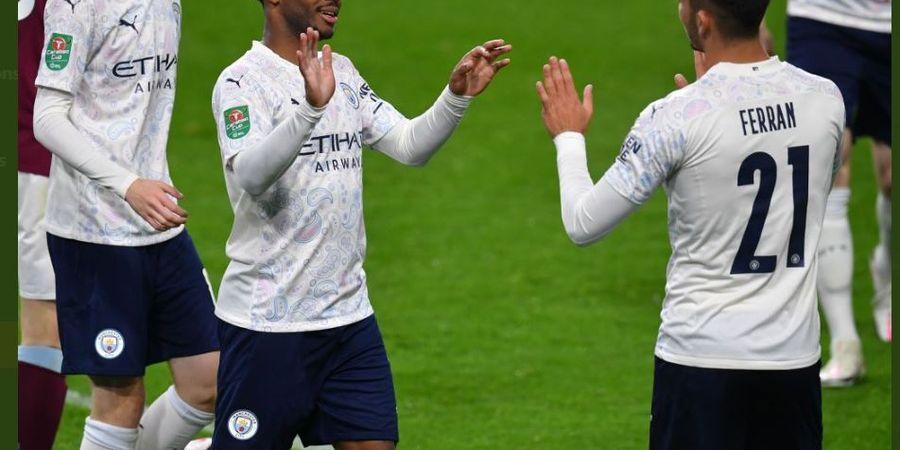 Hasil Piala Liga Inggris - Sterling 2 Gol 1 Assist, Man City Hajar Burnley 3-0