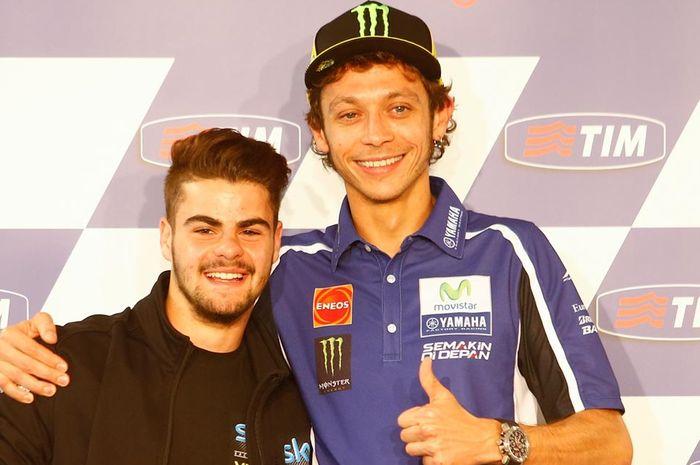 Valentino Rossi dan Romano Fenati tahun 2014