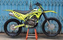 Ganteng Banget, Motor Honda Tiger Dimodif Trail, Siap Libas Medan Ekstrim