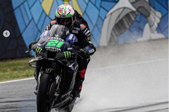Pembalap MotoGP dari tim Monster Energy Yamaha, Franco Morbidelli.