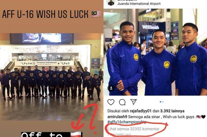 Pelatih Timnas U-16 Malaysia menyampaikan permohonan maaf atas tindakan pemainnya.