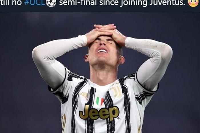 Cristiano Ronaldo melempem 71 kali gagal cetak gol dari tendangan bebas bersama Juventus.