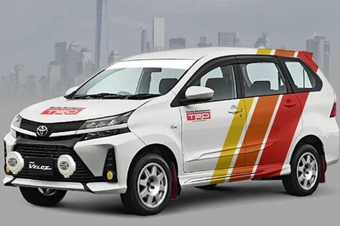 Modifikasi digital Toyota Avanza terbaru bergaya rally look
