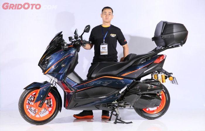 Best Daily Use Yamaha Xmax Customaxi  Bandung 2019 bersama sang owner
