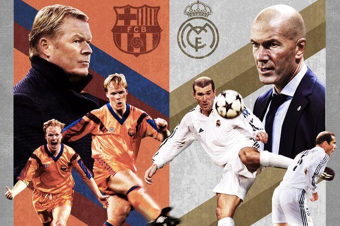 El Clasico antara Barcelona vs Real Madrid akan mempertemukan Ronald Koeman dengan Zinedine Zidane.